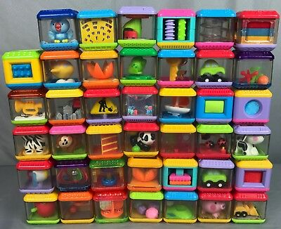 Fisher Price Peek A Boo Blocks Lot 31 Baby Toddler Activity Alphabet Letters toy