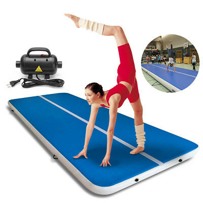 2x3/5/8m Inflatable Gym Yoga Mat Air Tumbling Track Gymnastics Cheerleading+Pump