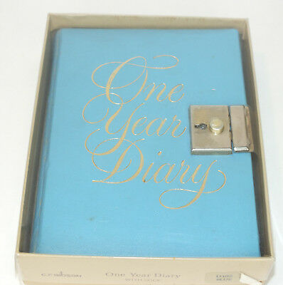 Vintage One Year Diary 1977 Hand Written Daily Journal Complete No Key Unlocked