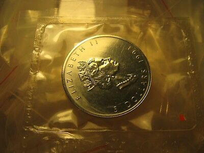 $5 1993 Canada Silver Maple Leaf Bullion RCM Sealed Coin 9999 1 Oz  Silver Rare.