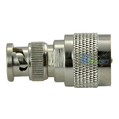 UK UHF PL-259 Male Plug to BNC PL259 Male Straight Coxial Adapter Hot Connector