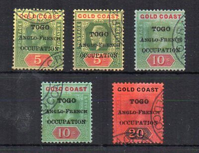 Togo 1916-20 Gold Coast Anglo-French occupation opt FU CDS