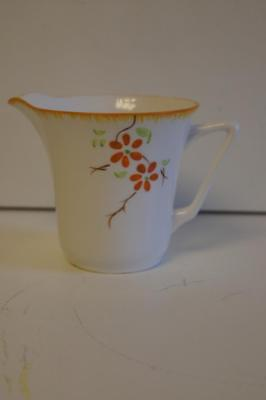 Melba Bone China Jug With Hand Painted Flowers.