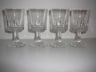 Crystal wine glasses Set of Four 13cms tall sturdy drinks parties