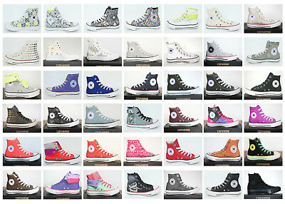 cheap for discount 8ddd7 ceacd NEU ALL STAR Converse Chucks Hi Leinen+ Leder Damen Schuhe Sneaker viele  Modelle