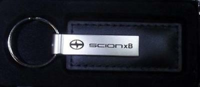 Stylish Genuine Scion XB Black Leather keychain key chain with box