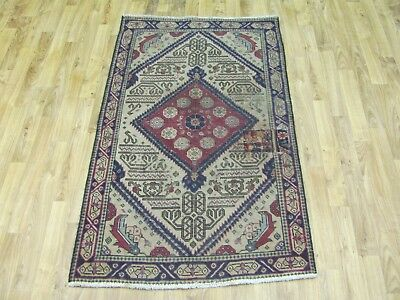 A TERRIFIC OLD HANDMADE TABRIZ AZERBAIJAN PERSIAN RUG (131 x 82 cm)