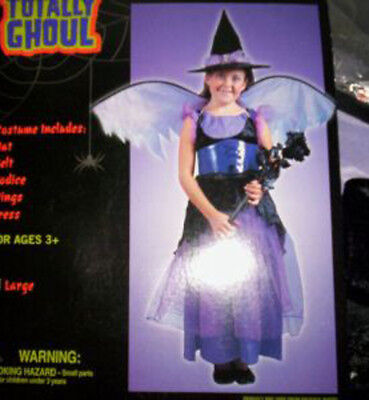 Witch Purple Fairy Good Witch Costume NWT 12-14