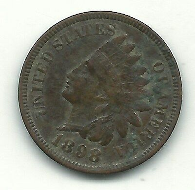 Extra Fine Details 1898 Indian Head Cent Coin-Old Us Coin-Dec227