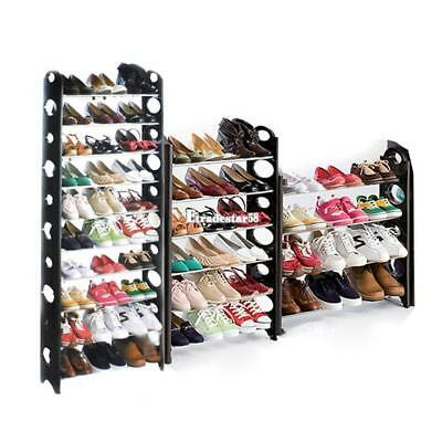 50 Pair 10 Tier Shoe Tower Rack Organizer Space Saving Shoe Rack EV