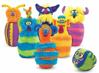 Melissa & Doug MONSTER BOWLING SOFT TOY/GAME Baby/Toddler Skittles Toy BN