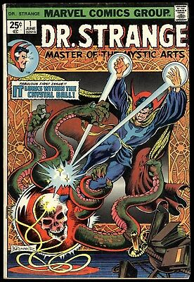 Doctor Strange (1974) #1 First Print Englehart Frank Brunner Mark Jewelers VG+
