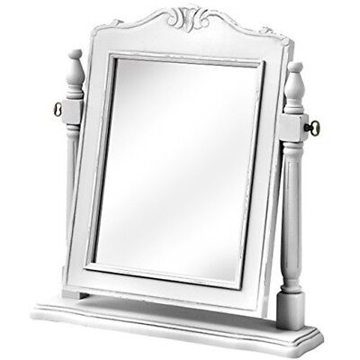 Florence Dressing Table Mirror - Shabby Chic White Large Vintage French Antique