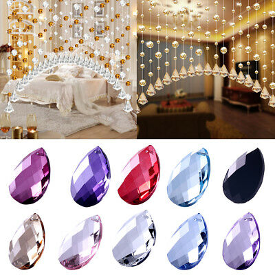 5PCS Water Drop-shaped Beads Curtain Drapes Hanging Room Divider Room Decor