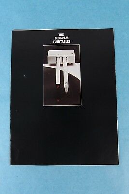 Vintage Bang & Olufsen Beogram 2400 & 4002 Turntable Dealer Sales Brochure