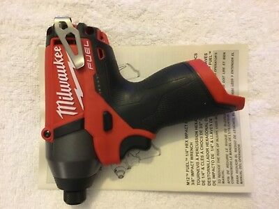"New Milwaukee Fuel M12 2453-20 12V Li-ion 1/4"" Hex Impact Driver With Belt Clip"