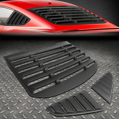 For 15-18 Ford Mustang Coupe Abs Vintage Style Rear+Quarter Side Window Louvers