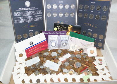 Huge Junk Lot Approx. 7 Lbs Coin Collection!!! Free Shipping