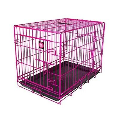 James & Steel My Pet Dog Crate, Pink, 36-inch