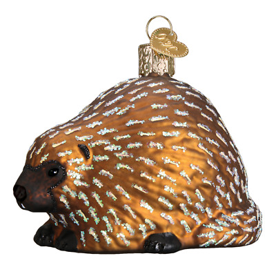 """Porcupine"" (12511)X Old World Christmas Glass Ornament w/ OWC Box"