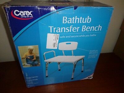 Carex Shower Transfer Bench with Left or Right Bathtub Entry