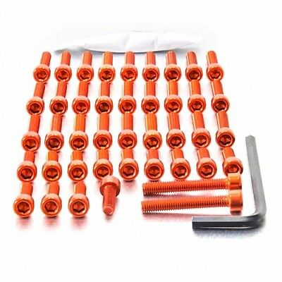 Pro-Bolt ALU Engine Bolt Kit - Orange ETR088O Triumph Street Triple 675 07-16