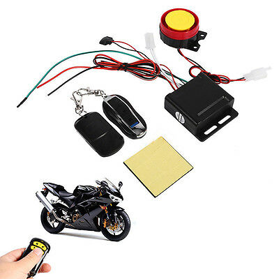 Scooter Car Security Alarm System Remote Control 12V Anti-theft for Motorcycle