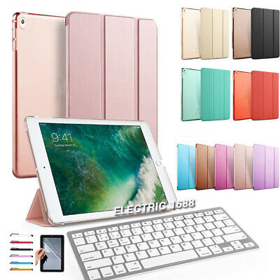 "AU For iPad 6th Gen 2018 9.7"" Smart Stand Leather Cover Case Bluetooth Keyboard"