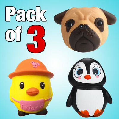 [3 Pack] Jumbo Slow Rising Squishies Squishy Squeeze Toy Stress Reliever Mobile