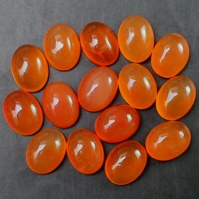 16 Pcs WHOLESALE LOT 8x6mm OVAL CABOCHON NATURAL EARTH MINED CARNELIAN GEMSTONE