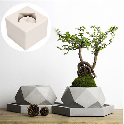 Silicone Mold New Geometric Flower Pots Concrete Cement 3D Vase Handmade Tool