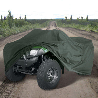 Heavy Duty Waterproof Rain Cover ATV Bike Quad 4 x 4 300D Olive Green Large