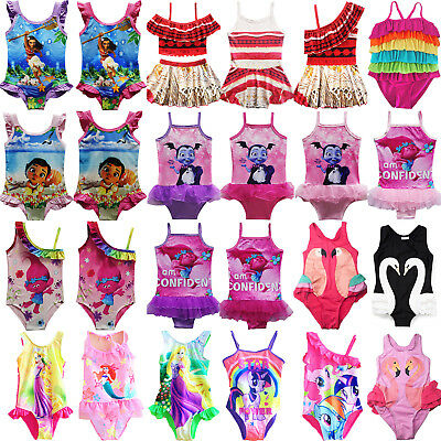 Kids Girl Moana Character Swimming Costume Swimwear Swimsuit Beach Bathing Suit