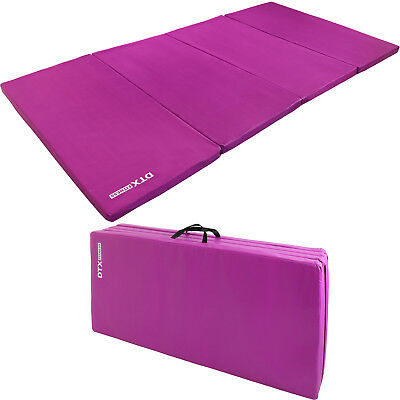 DTX Fitness Purple Folding Large Exercise Floor Mat Yoga/Pilate Workout Gym Mat