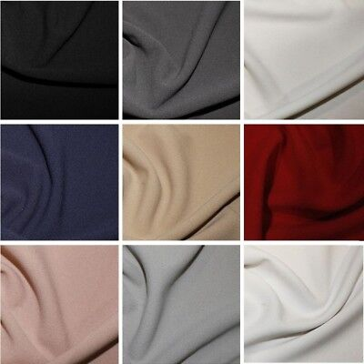 Scuba Crepe Fabric Stretch Jersey Spandex Material