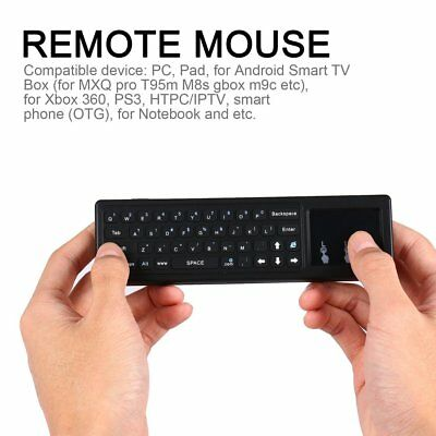 Smart 2.4GHz Wireless Fly Mouse Remote Control Mini Keyboard & Touchpad Combo yy