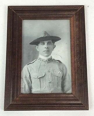 US Army Spanish American War Soldiers Framed Photo - Reprint