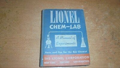 Lionel chem lab manual for experiments 1942 500 picclick lionel chem lab manual for experiments 1942 fandeluxe Images