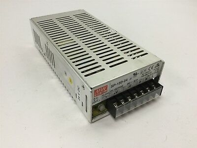 Mean Well SP-150-24 Power Supply, Input: 100-240VAC 2.5A, Output: 24VDC 6.3A