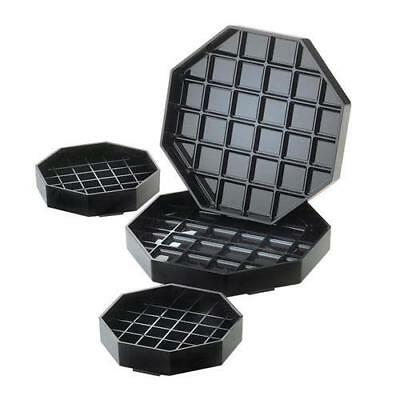 Cal-Mil - 308-6-13 - 6 in x 6 in Black Octagon Drip Tray