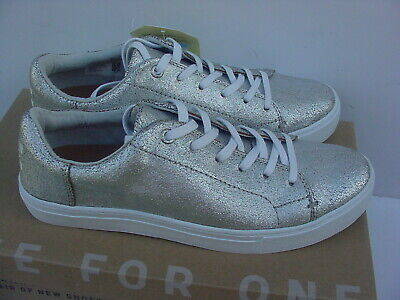 Clothing, Shoes & Accessories New Nwob Toms Lenox Sneakers Shoes White Leather Low Top Womens Sz 8.5 $98 Rare