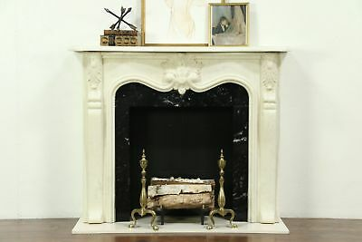 French Style Cultured Marble Fireplace Mantel & Surround #28756