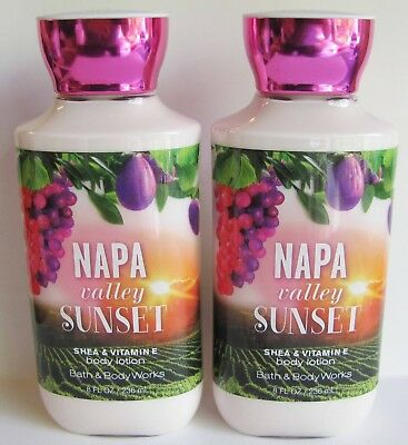 2 X NAPA VALLEY SUNSET Body Lotion Bath & Body Works lot set new P36