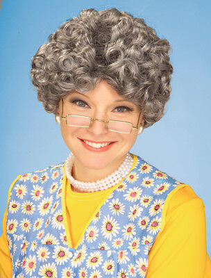 Burnett Mama Old Lady Adult Grey Costume Wig