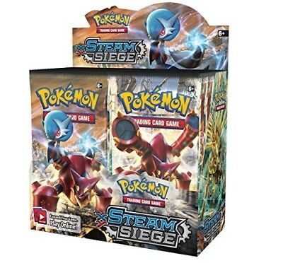 Pokemon TCG x4 Booster Packs XY Steam Siege 1/9 Booster Box Unsearched SKU#314