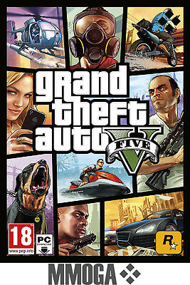 GTA5 Grand Theft Auto V - Juego de PC Rockstar - código de descarga digital - ES