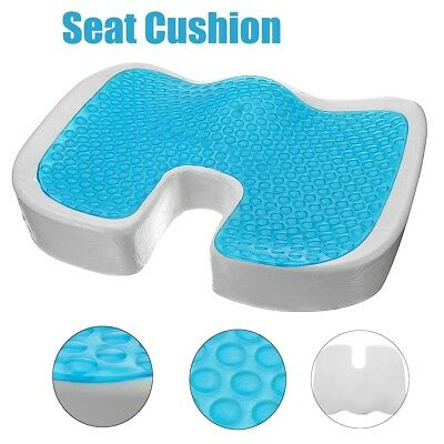 Seat Cushion Gel Pillow Cooling Coccyx Prostate Hemorrhoid Pain Relief Chair Xl
