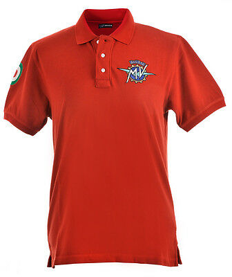 "Original MV Agusta Poloshirt Polo Shirt ""Institutional"" rot Shirt kurzarm"