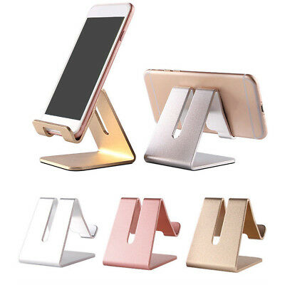 Aluminum Desk Stand Holder Desktop For Mobile Phone Tablet iPad iPhone 6 7 Plus