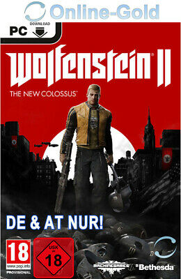 Wolfenstein 2 The New Colossus - DE & AT PC Cut Version - STEAM Download Code